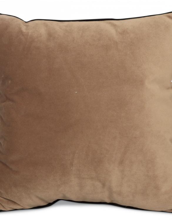 Coussin en velour sable