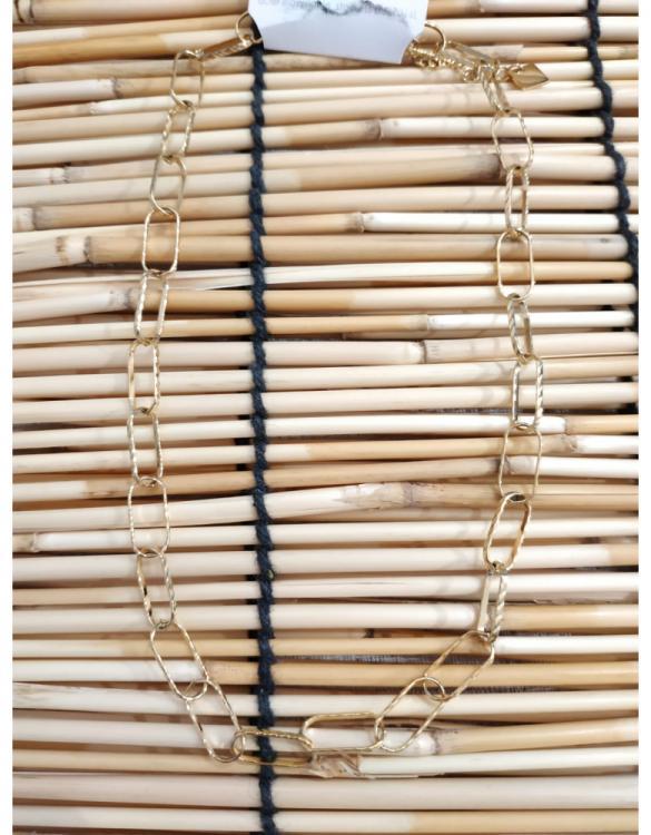 Collier maille trombonne doré